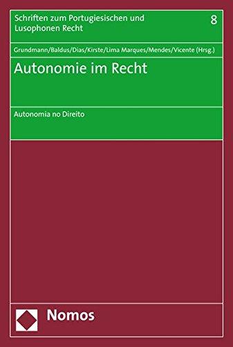 Autonomie im Recht: Stefan Grundmann