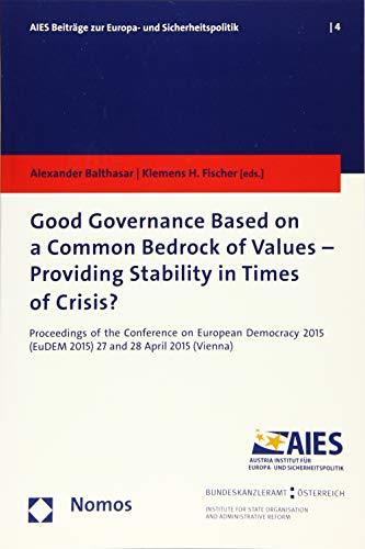 Good Governance Based on a Common Bedrock: Alexander Balthasar