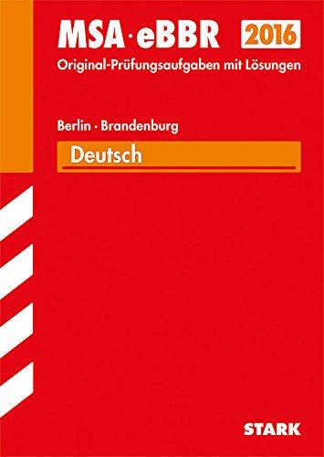 9783849009564: Mittlerer Schulabschluss (MSA) 2015 Deutsch, Berlin/ Brandenburg