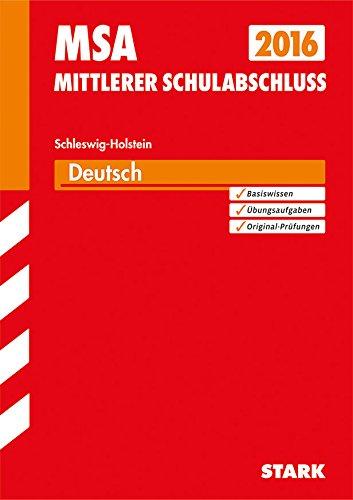 9783849009632: Abschlussprüfung Realschule Schleswig-Holstein/Deutsch 2015: Original Prüfungsaufgaben und Training, Mit der aktuellen Prüfung