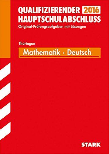 9783849010058: Abschlussprüfung Regelschule Thüringen - Mathematik, Deutsch Qualifizierender Hauptschulabschluss