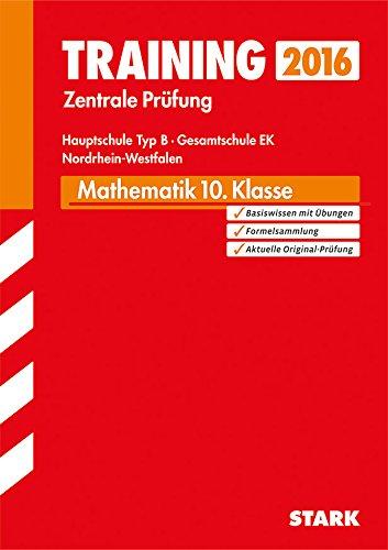9783849010782: Training Zentrale Prüfung Hauptschule Typ B NRW - Mathematik