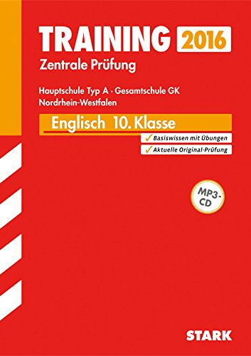 9783849010836: Training Zentrale Prüfung Hauptschule Typ A NRW - Englisch