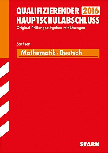 9783849016722: Abschlussprüfung Oberschule Sachsen - Mathematik, Deutsch Qualifizierender Hauptschulabschluss