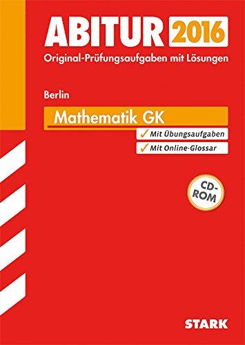 9783849016746: Abiturprüfung Berlin - Mathematik GK