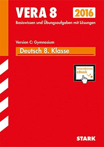 9783849016845: VERA 8 Gymnasium - Deutsch Version C + ActiveBook