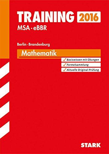 9783849016920: Training Mittlerer Schulabschluss Berlin/Brandenburg - Mathematik