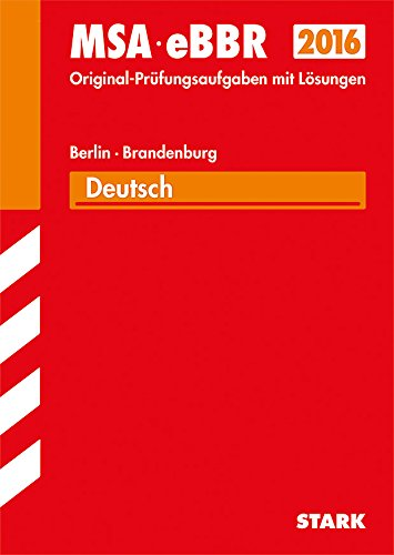 9783849016975: Mittlerer Schulabschluss Berlin/Brandenburg - Deutsch