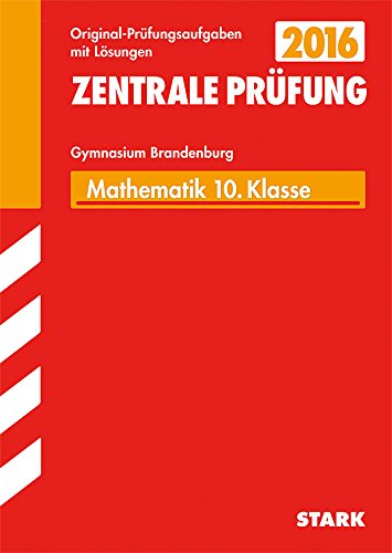 9783849017095: Zentrale Prüfung Brandenburg - Mathematik 10. Klasse