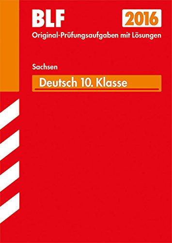 9783849017262: Besondere Leistungsfeststellung Gymnasium Deutsch - 10. Klasse Sachsen