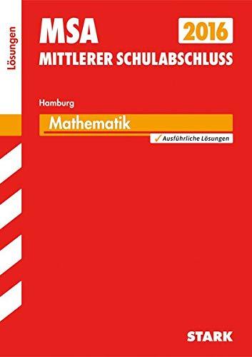 9783849017477: Mittlerer Schulabschluss Hamburg - Mathematik Lösungen