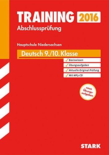 9783849017729: Training Abschlussprüfung Hauptschule Niedersachsen - Deutsch 9./10. Klasse, mit CD