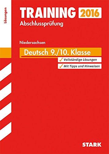 9783849017743: Training Abschlussprüfung Hauptschule Niedersachsen - Deutsch 9./10. Klasse Lösungen