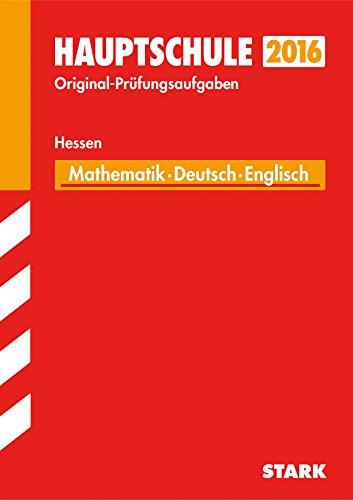 9783849018528: Abschlussprüfung Hauptschule Hessen - Mathematik, Deutsch Englisch