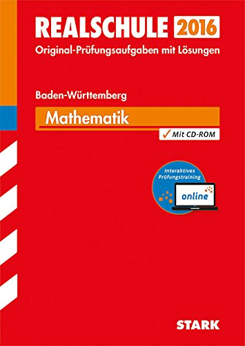 9783849018740: Abschlussprüfung Realschule Baden-Württemberg Mathematik inkl. Online-Prüfungstraining