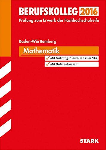 9783849018795: Berufskolleg Baden-Württemberg Mathematik