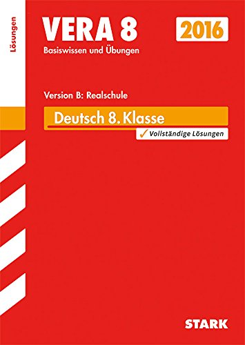 9783849019310: VERA 8 Realschule - Deutsch Lösungen