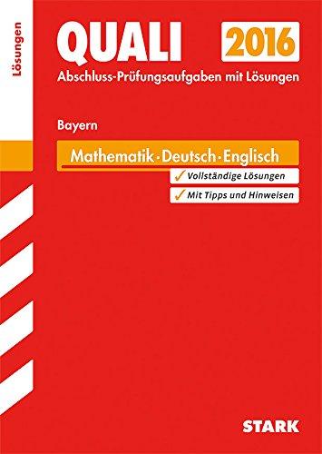 9783849019624: Abschlusspr�fung Mittelschule Bayern - Mathematik, Deutsch, Englisch L�sungsheft