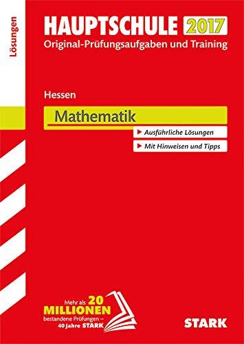 9783849023621: Abschlussprüfung Hauptschule Hessen 2017 - Mathematik Lösungsheft