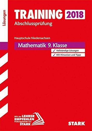 Training Abschlussprüfung Hauptschule Niedersachsen 2018 - Mathematik