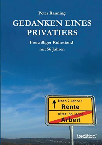 9783849147181: Gedanken eines Privatiers