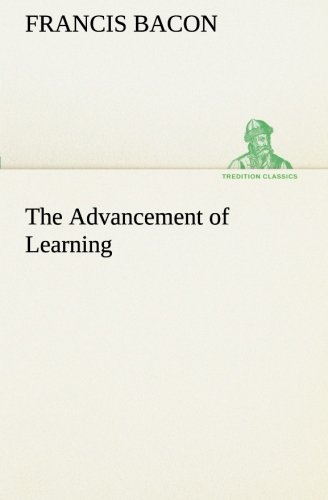 9783849190057: The Advancement of Learning (TREDITION CLASSICS)