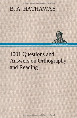 9783849197209: 1001 Questions and Answers on Orthography and Reading