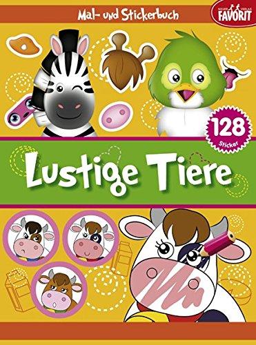 9783849439842: Lustige Tiere: Mal- und Stickerbuch