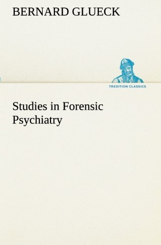 9783849511982: Studies in Forensic Psychiatry (TREDITION CLASSICS)
