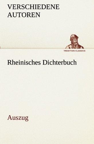 9783849532864: Rheinisches Dichterbuch: Auszug (TREDITION CLASSICS)