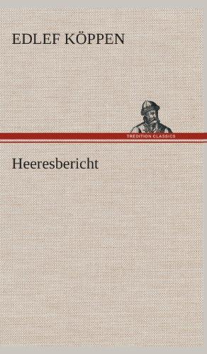 9783849535056: Heeresbericht (German Edition)