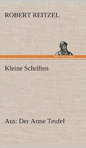 Kleine Schriften: Robert Reitzel