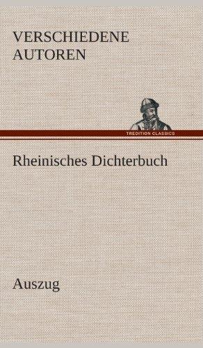 9783849537357: Rheinisches Dichterbuch: Auszug
