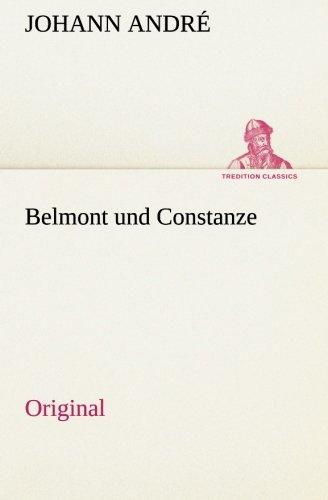 9783849552572: Belmont und Constanze: Original (German Edition)