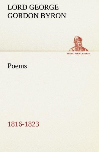 9783849553388: Poems: 1816-1823