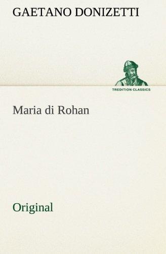 9783849554095: Maria di Rohan: Original
