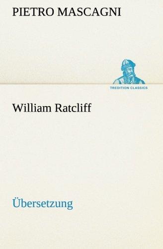 9783849556426: William Ratcliff: Übersetzung