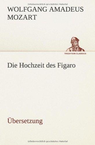 9783849556921: Die Hochzeit des Figaro: �bersetzung