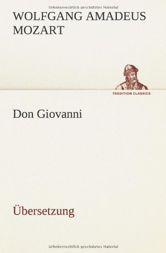 9783849556945: Don Giovanni: Übersetzung (German Edition)