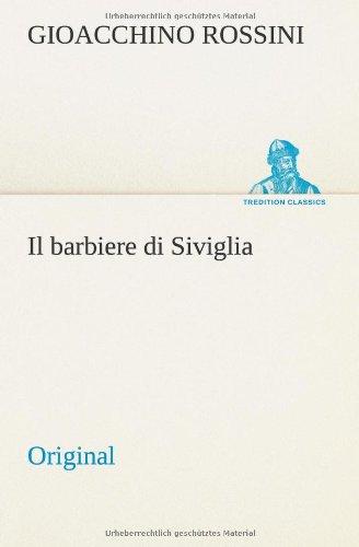 9783849557751: Il barbiere di Siviglia: Original (Italian Edition)