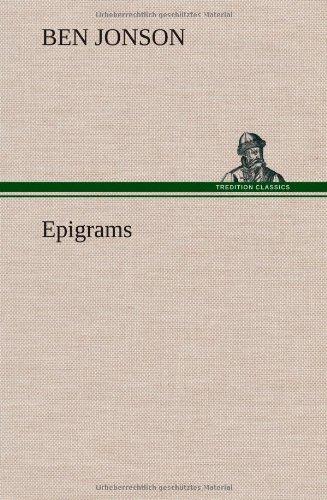 9783849562854: Epigrams