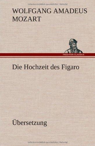 9783849564179: Die Hochzeit des Figaro: Übersetzung
