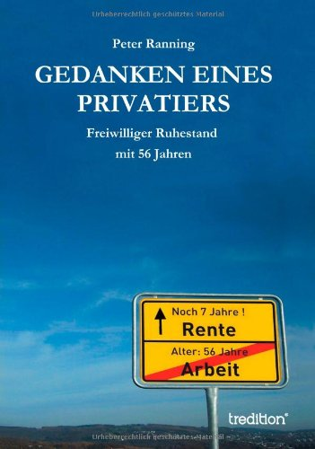 9783849579494: Gedanken Eines Privatiers