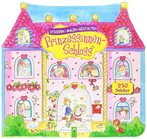 9783849901165: Prinzessinnen-Schloss: Stickern - Malen - Gestalten