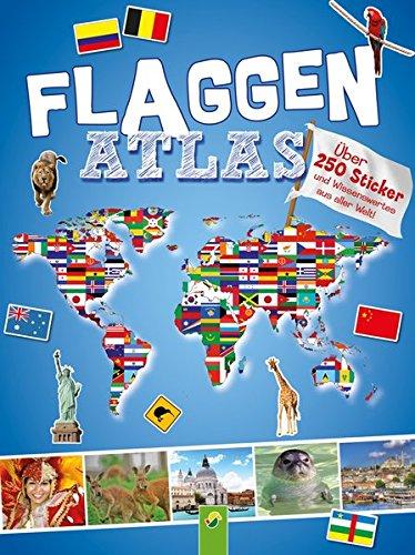 9783849903268: Flaggenatlas mit Stickern: Über 250 Sticker und Wissenswertes aus aller Welt