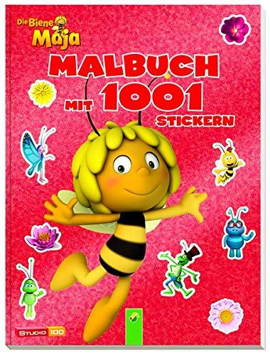 9783849907839: Die Biene Maja - Malbuch mit 1001 Stickern
