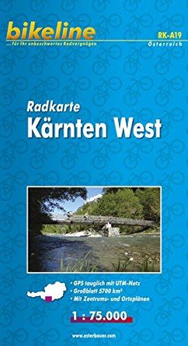 Radkarte Österreich. 1:100000: Bikeline Radkarte Kärnten West . 1 : 75.000. Bl. 19, ...