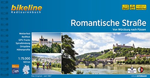 9783850000369: Romantische Strasse Wurzburg-Fussen: BIKE.400 (Bikeline Radtourenbuch)