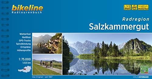 9783850000574: Bikeline. Radatlas Salzkammergut: Zwischen Salzburg, Ober�sterreich und Steiermark. Radtourenbuch und Karte 1 : 75.000