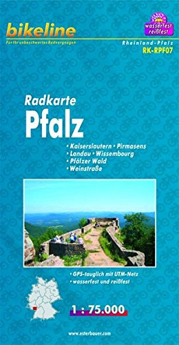 9783850002899: Pfalz Cycle Map: BIKEK.DE.RPF7